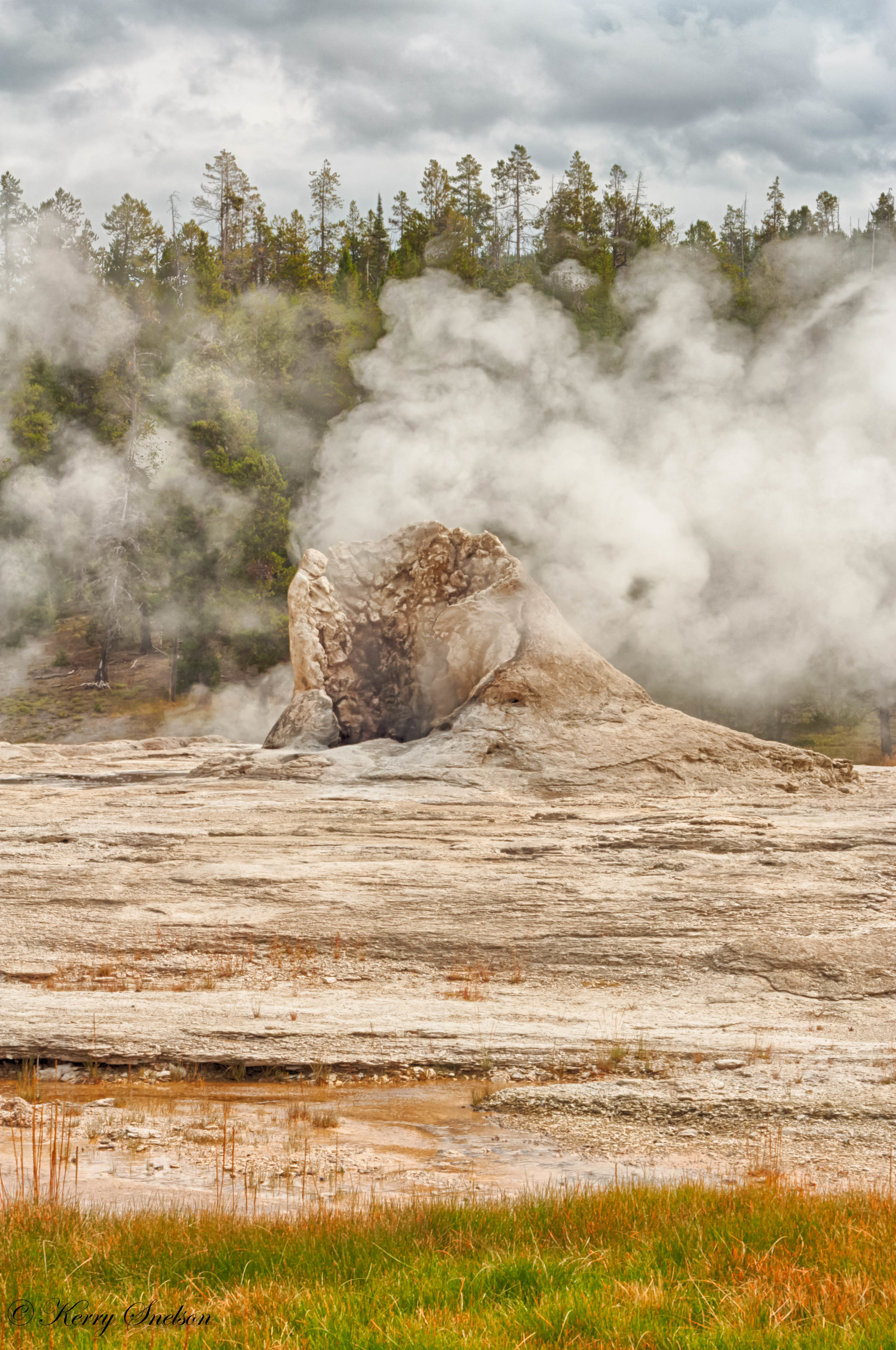 Portrait Landscape of Giant Geyser