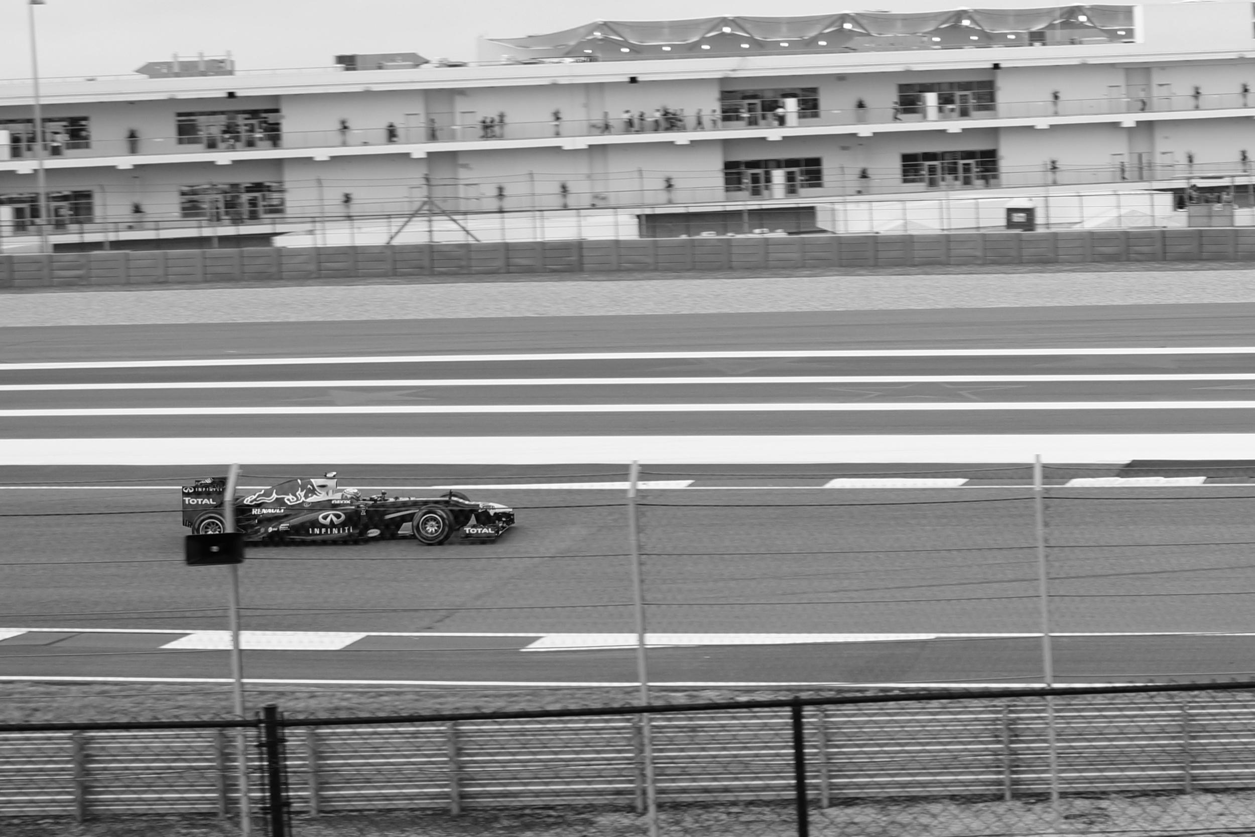 Sebastian Vettel heading towards turn 20