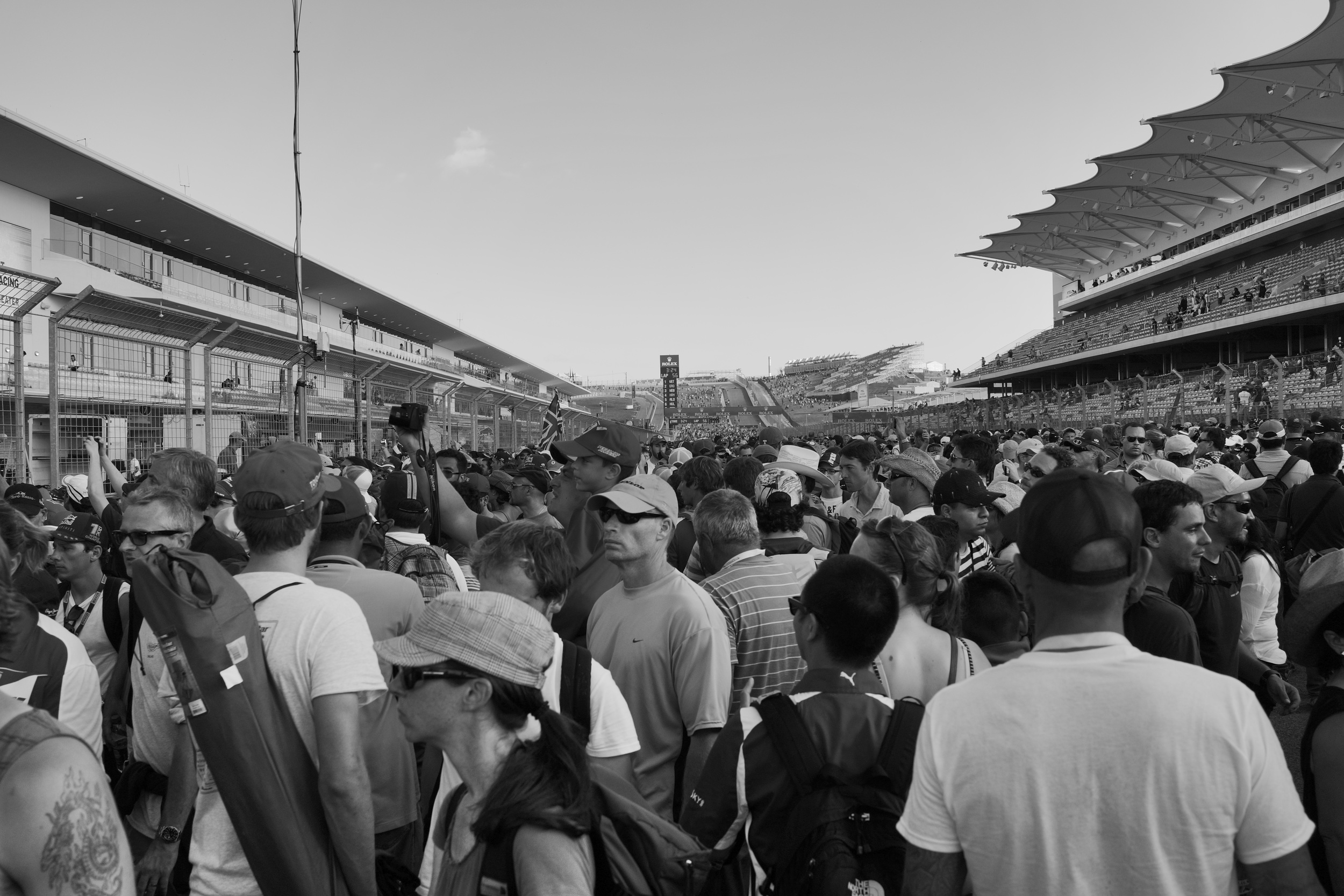 Starting grid after the race