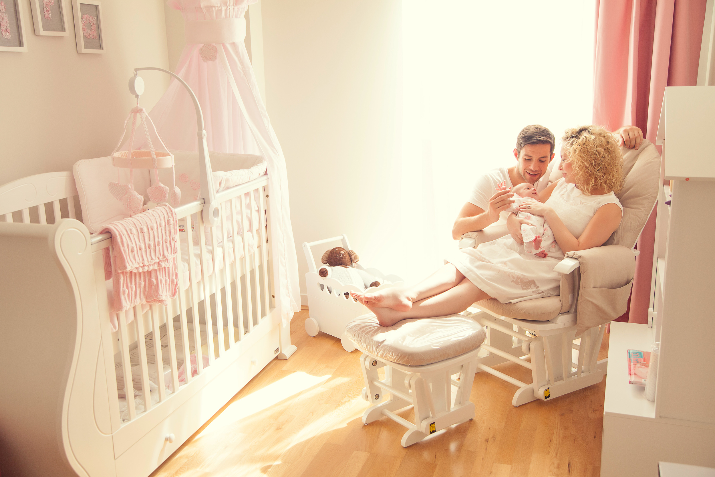 candid imagery using baby's nursery