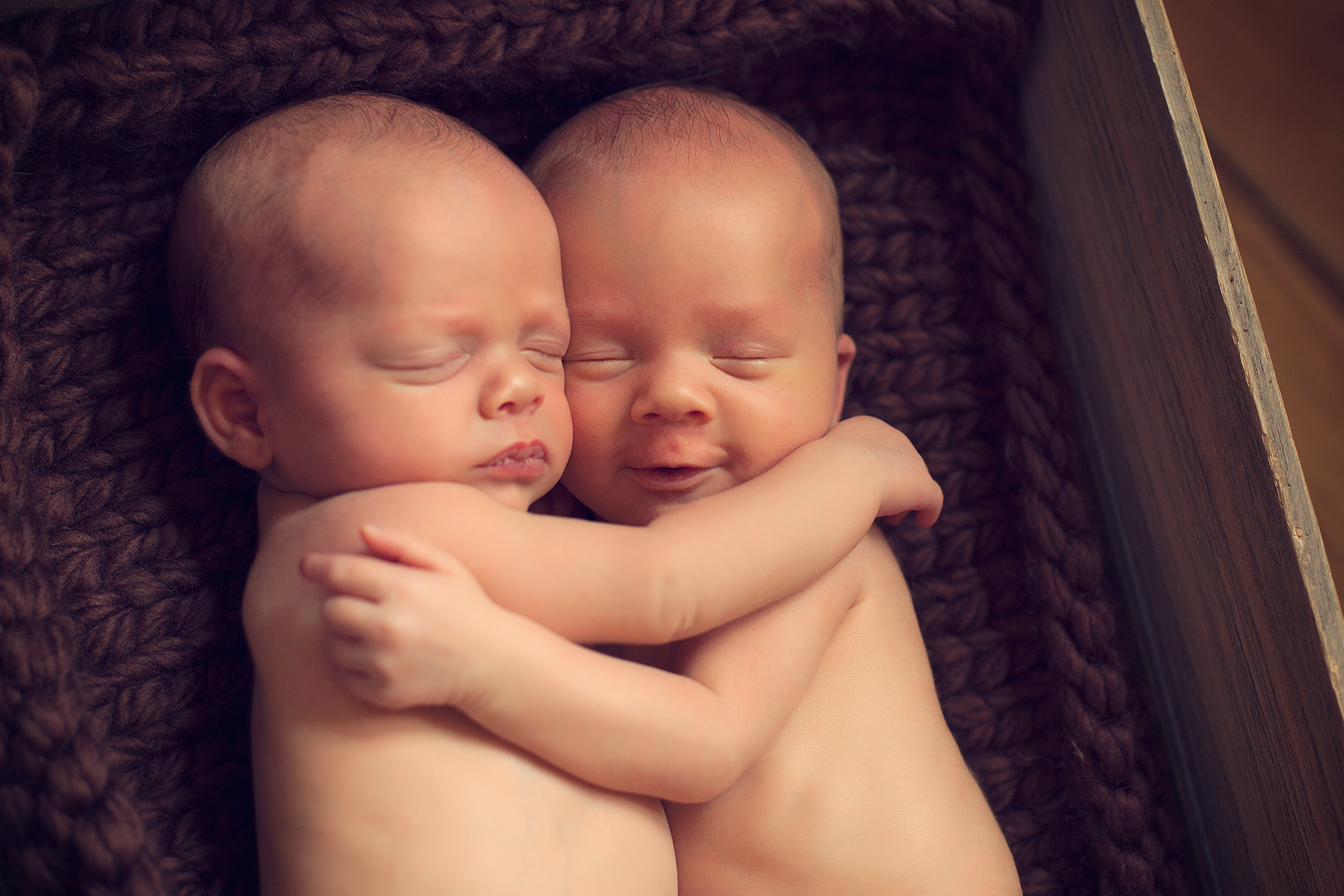 newborn twins - brother and sister