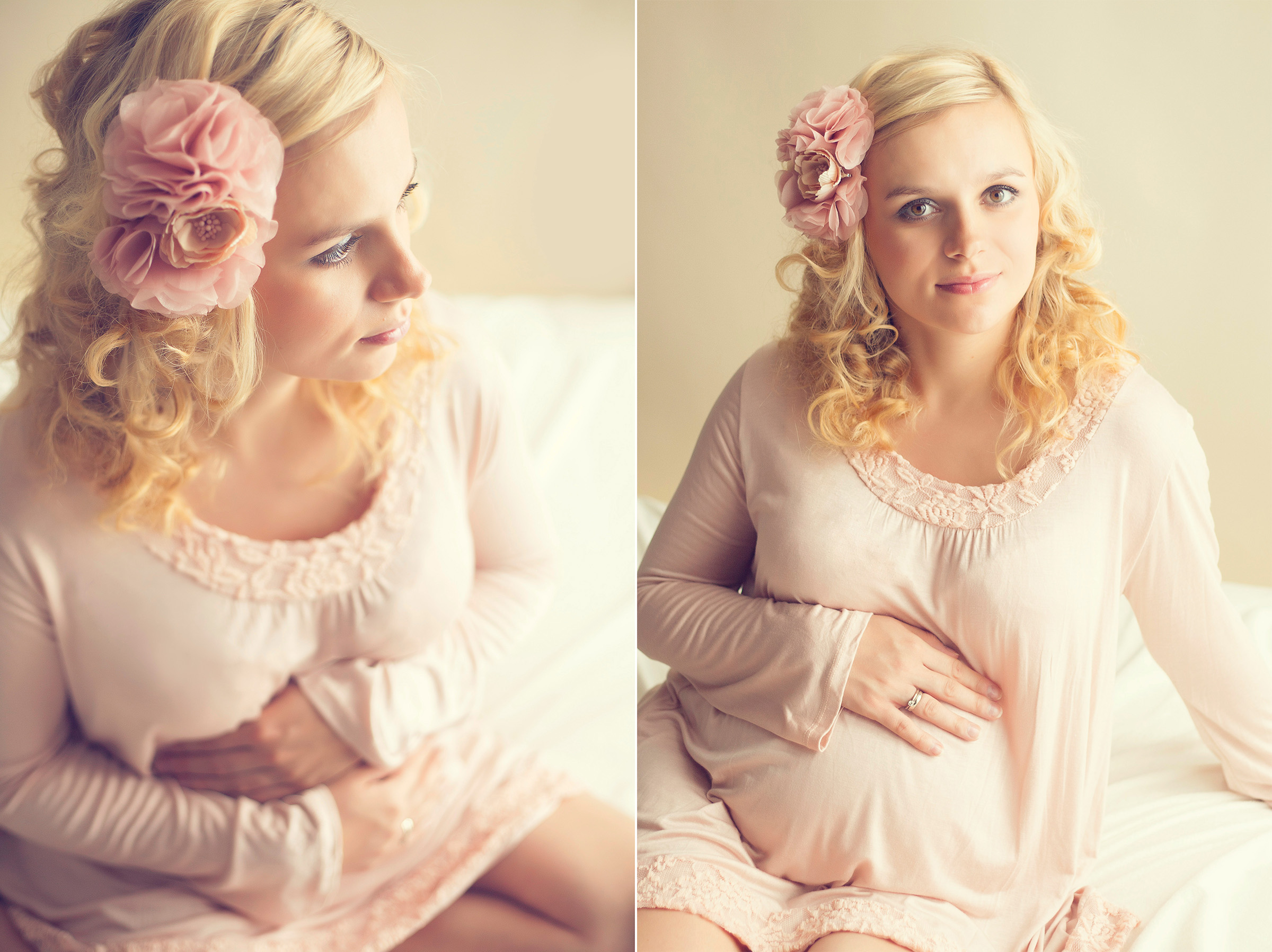 soft and dreamy pregnancy portrait