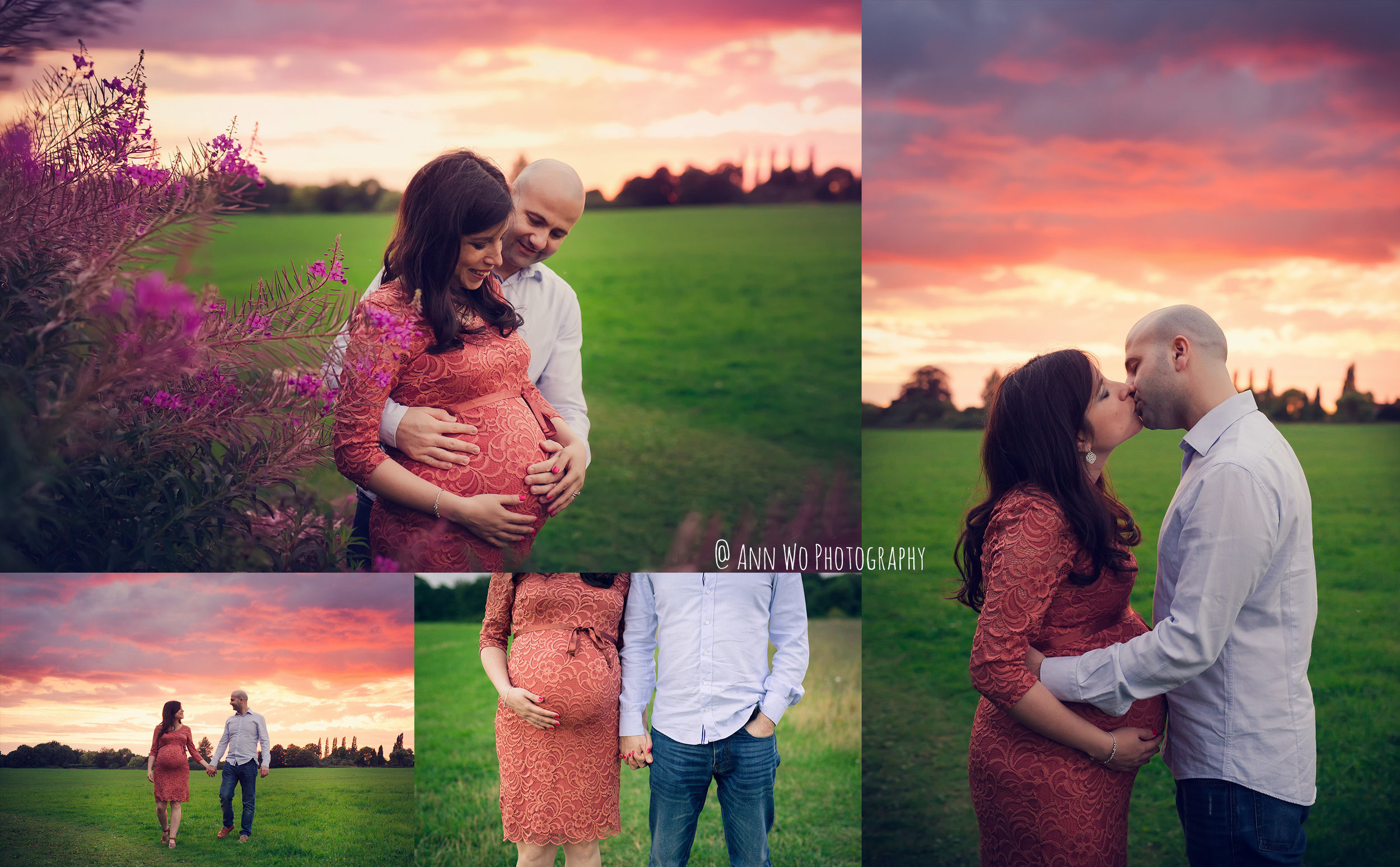 maternity photography sunset London by Ann Wo