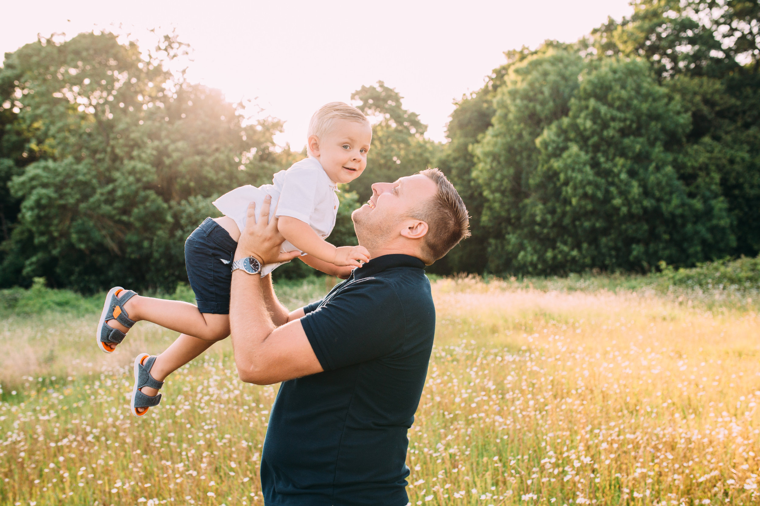 dad and son- family photography London