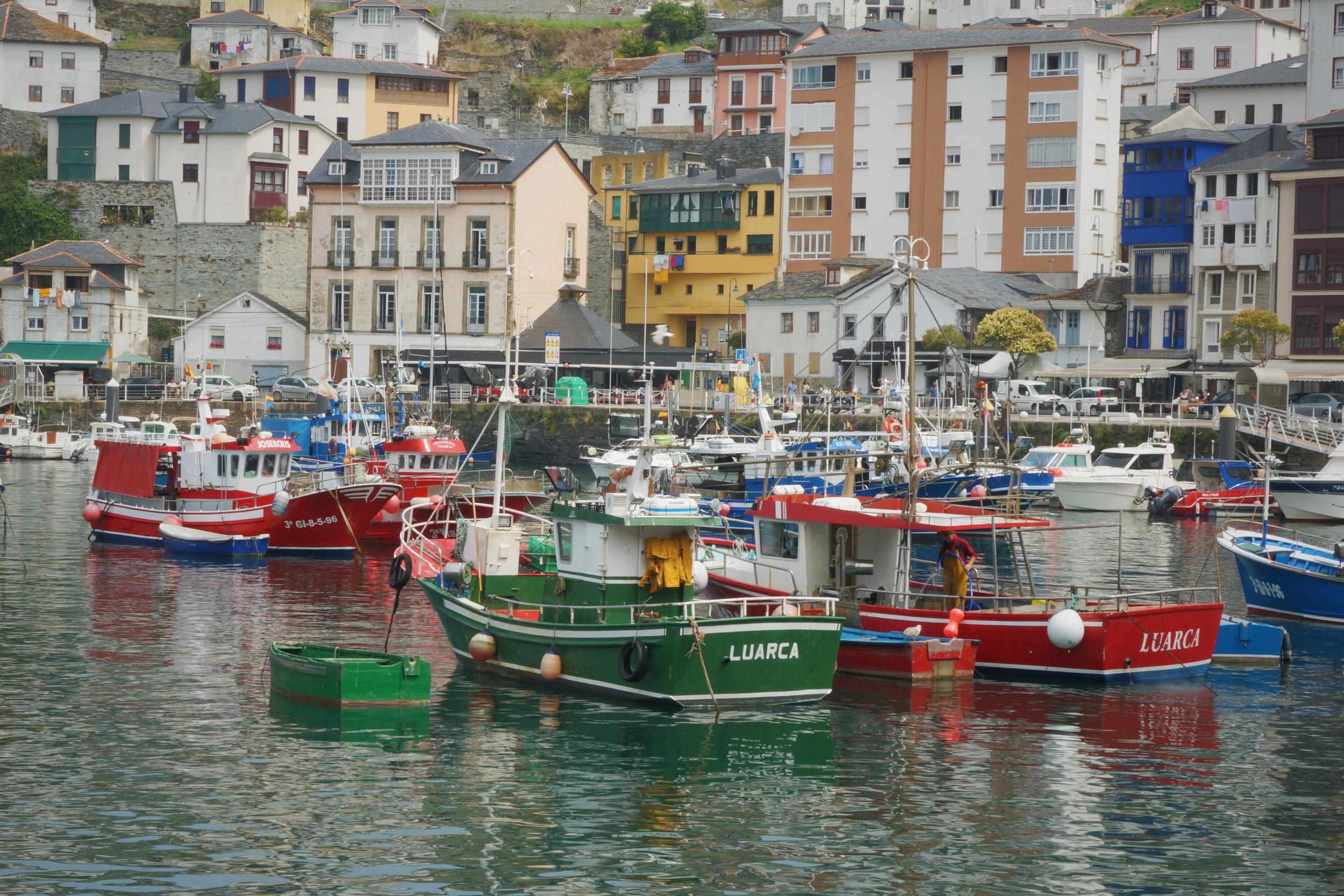 Luarca is a small fishermen's village in Asturias.