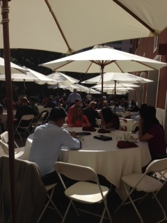 The delightful outdoor lunch at the UCSF conference center.