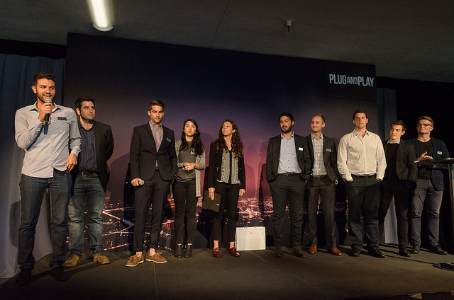 Many thanks to the Plug And Play FinTech team for putting on such an excellent program and event. Some pictured here include George Damouny, Scott Robinson, RJ Carver, Emiko Pond, Ashlene Ramadan, Omeed Mehrinfar, Max Koenig, Ivan Zgomba, and Kristians Karlsons. Not pictured Allison Romero, Yelena Kasianova, who were likely taking all these great pictures.