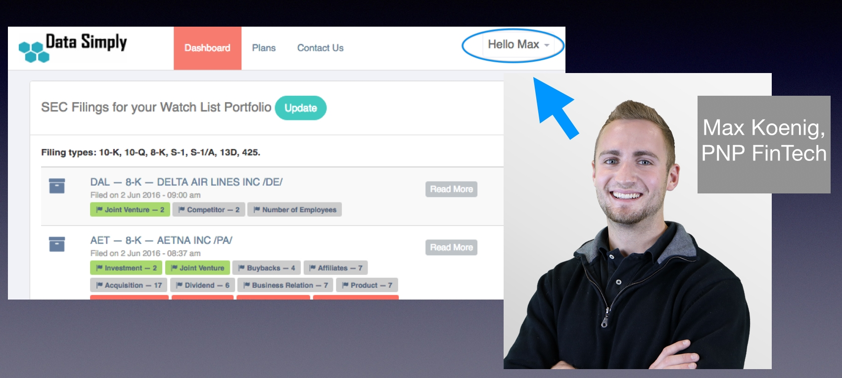 Little known fact ... we named our demo user after Max on the PNP team!