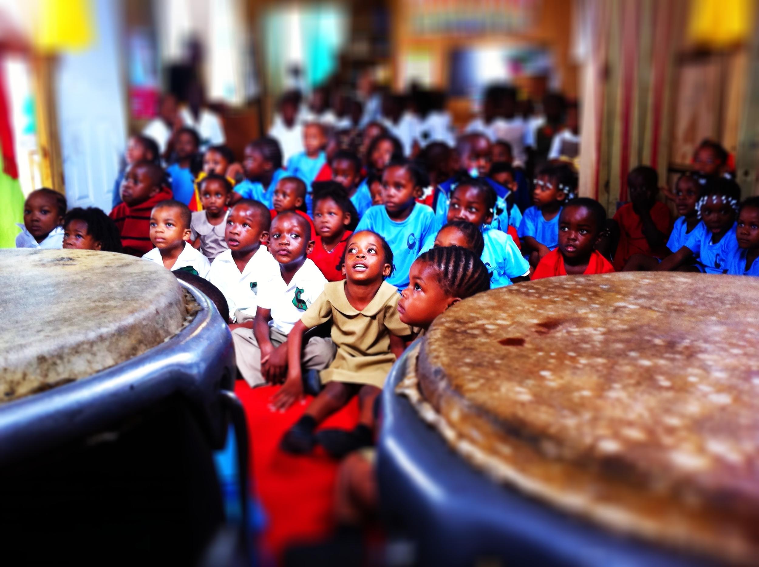 Childrens Workshop at Sankofa School, Jamaica, 2011