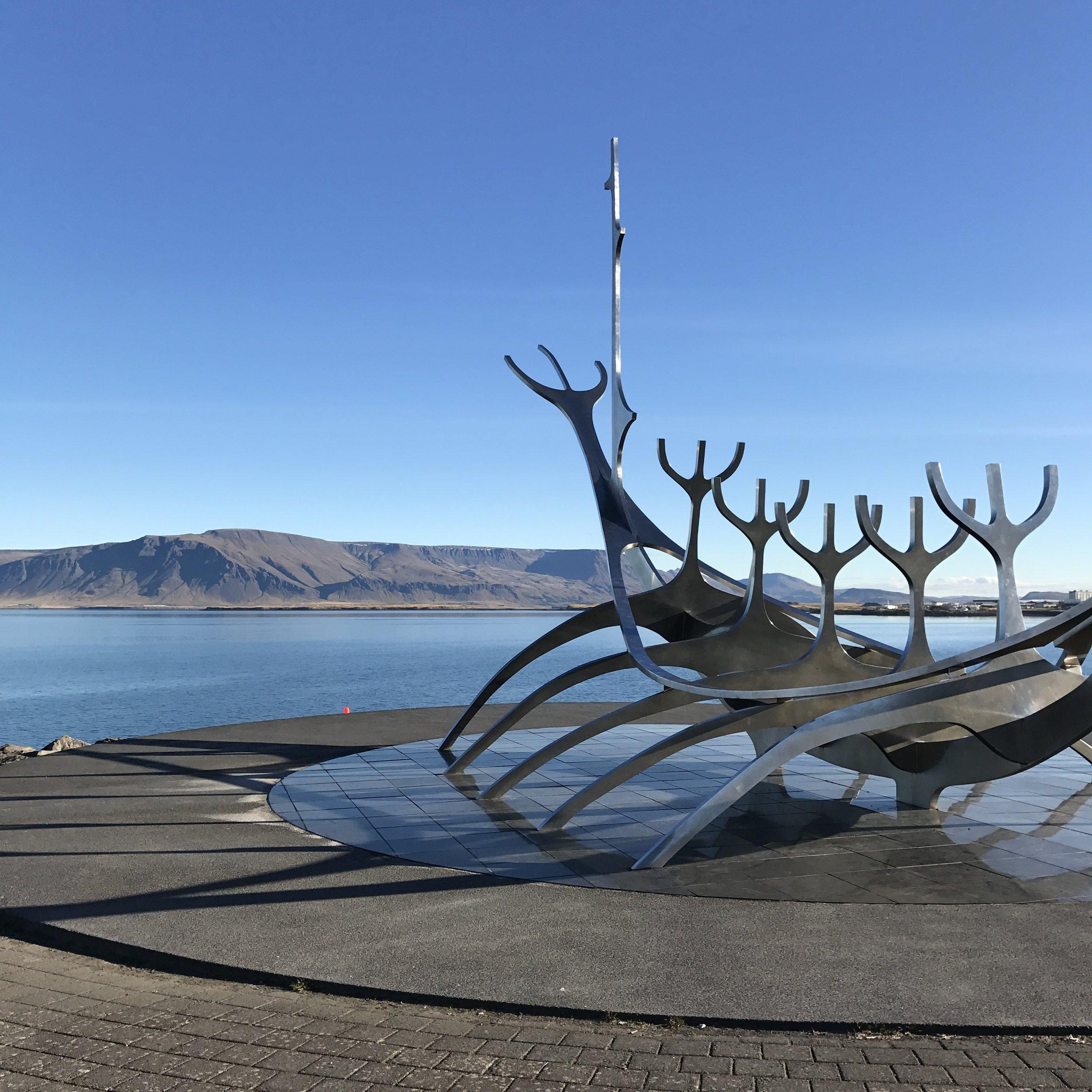 Sólvar sculpture, along the waterfront in Reykjavik