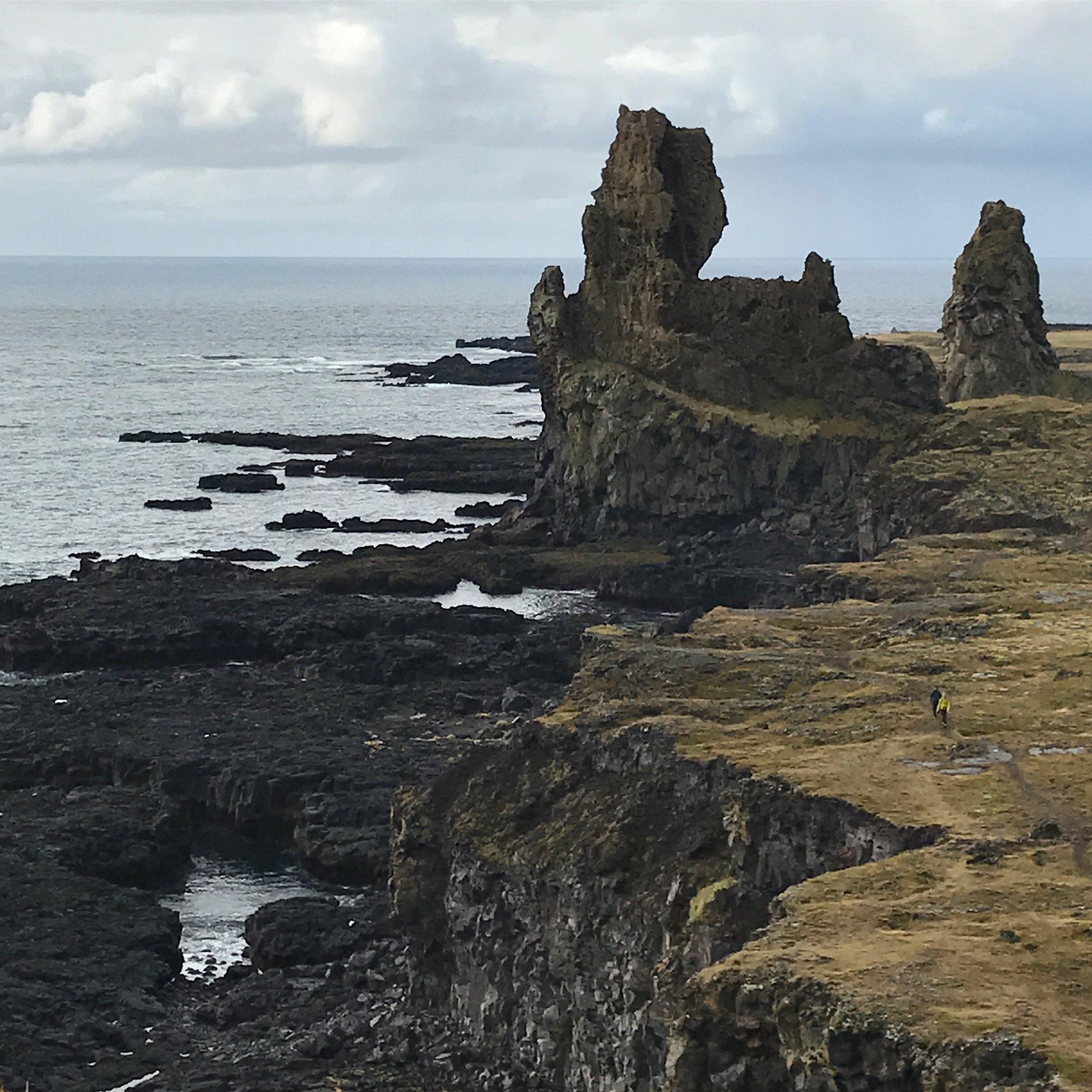 The pillars at Lóndrangar