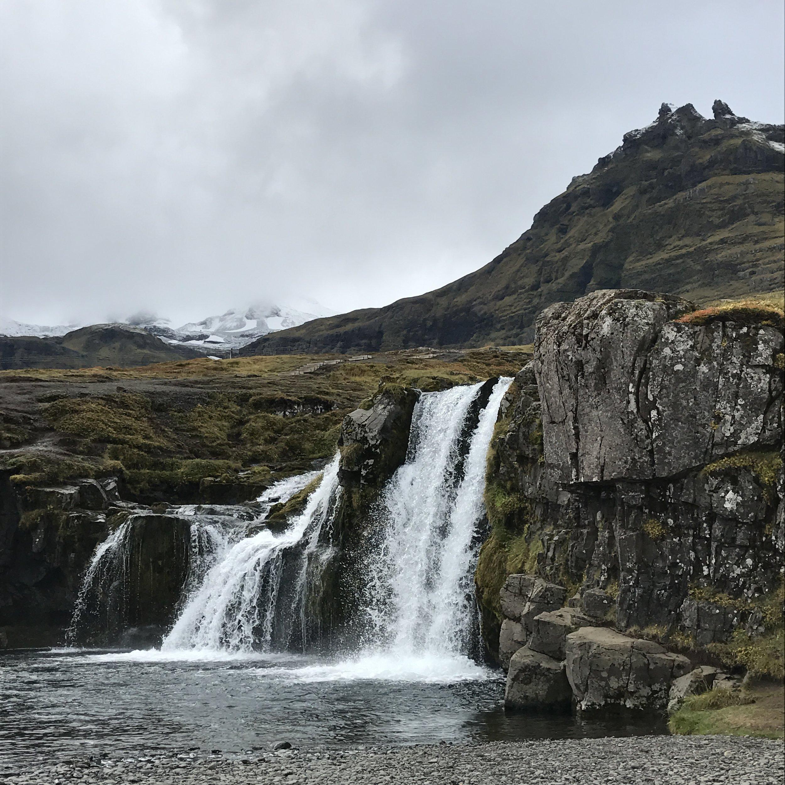 The waterfall at Kirkjufell