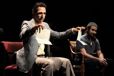 Amir Arison and Fajer Kaisi in Aftermath at NYTW 2009