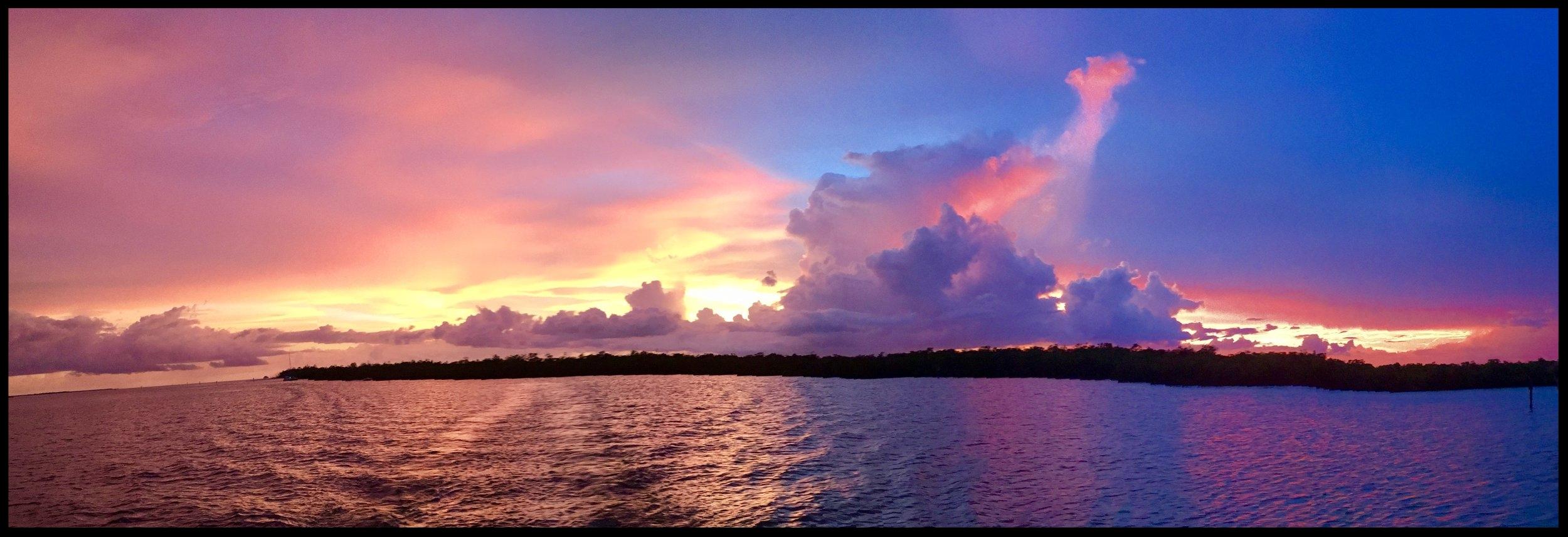 Sunset-Moonrise over The Ten Thousand Islands National Wildlife Refuge