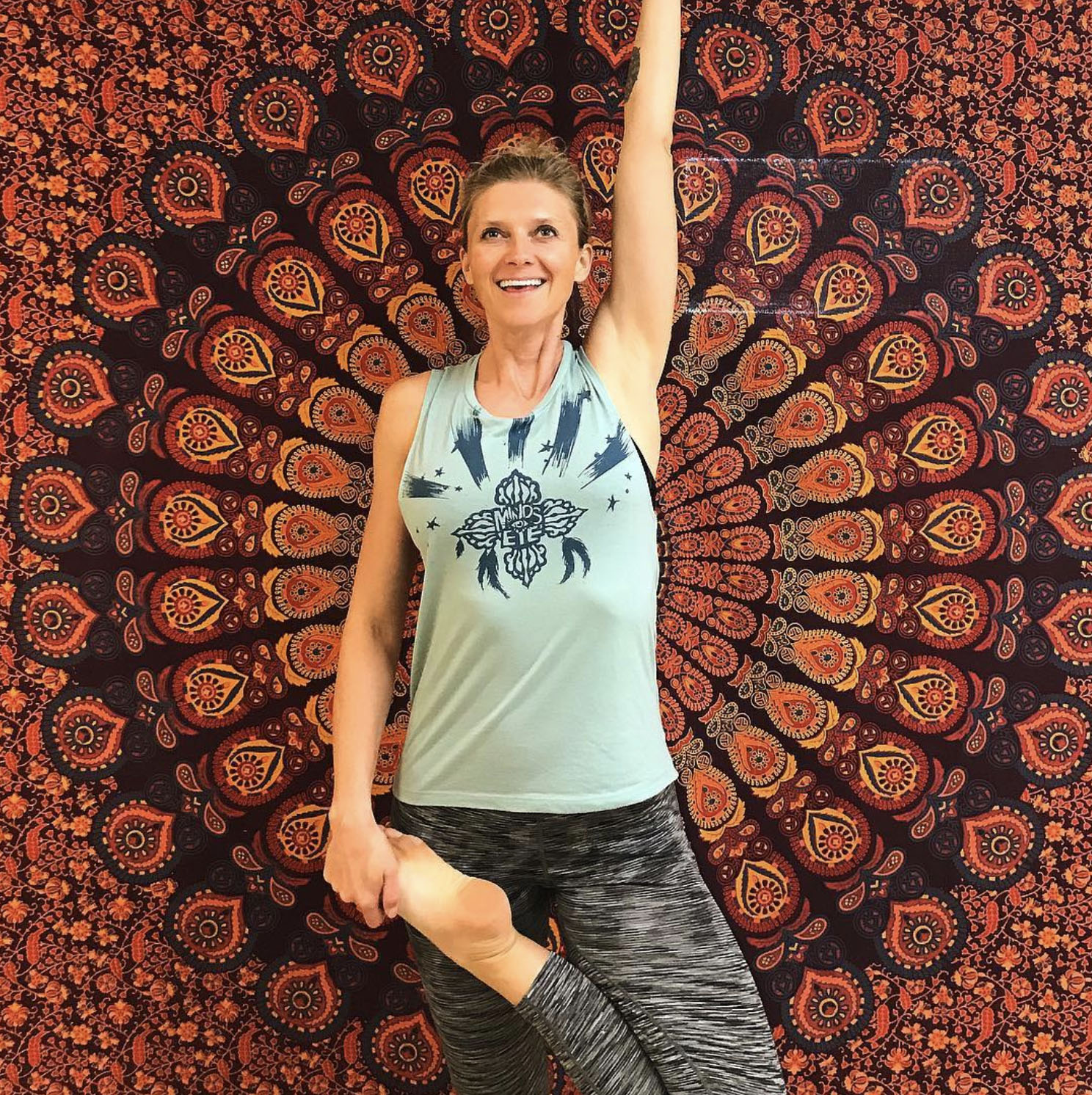 HAVE A GREAT DAY NO MATTER WHAT @MYDHARMA_YOGA WEARING THE SPIRITWALKER TANK
