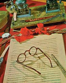 Uzeer Gadjibegov's desk as it is, kept untouched in the museum named after him.
