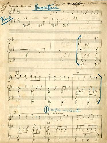 Uzeir Hajibeyov's Manuscript of Arshin Mal Alan