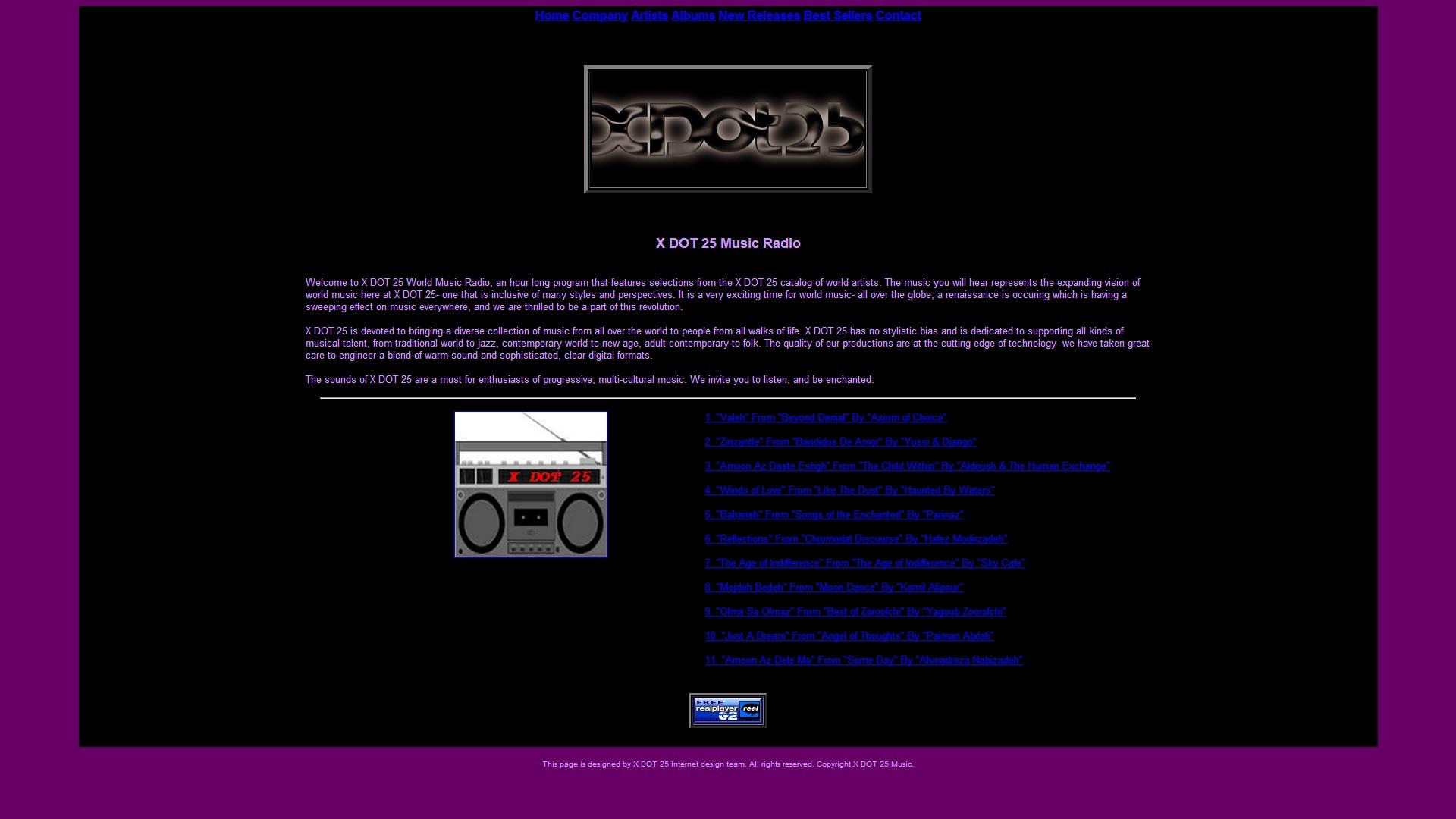 XDOT 25 Music Radio