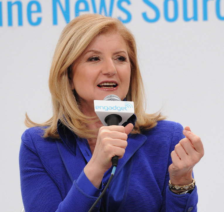 Arianna Huffington, speaking on health and wellness on the Engadget stage at CES 2013