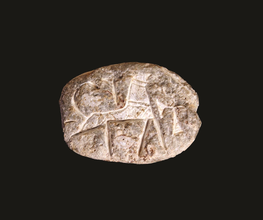 This royal seal, carved in the shape of a scarab beetle, was found at Khirbet el-Maqatir in 2013. It was fashioned around 1500 BC.