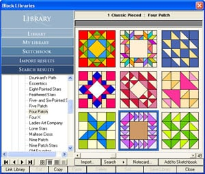 Electric Quilt 7 is a quilt pattern design software for computers.