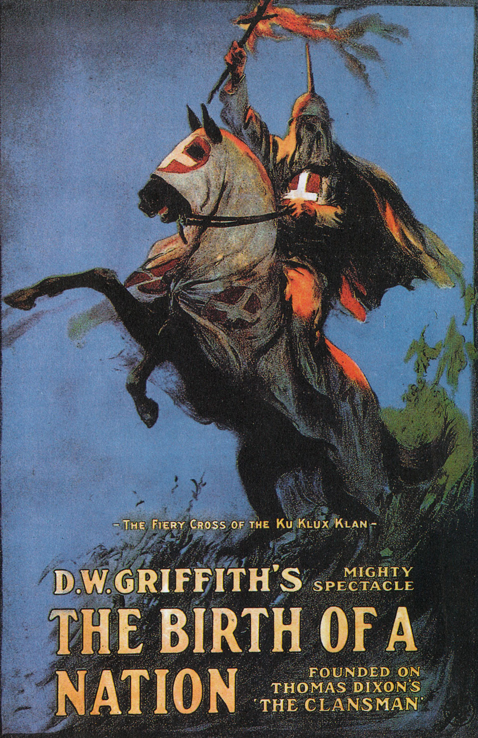 Poster for D.W. Griffith's Birth of a Nation. 1915.