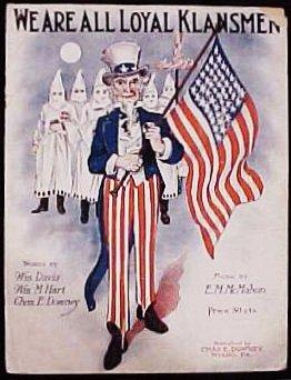 Sheet music for We Are All Loyal Klansmen.
