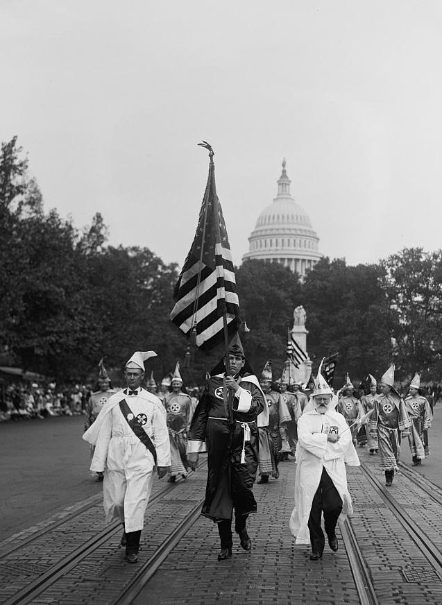 Klan Parade in Washington D.C. 1926.