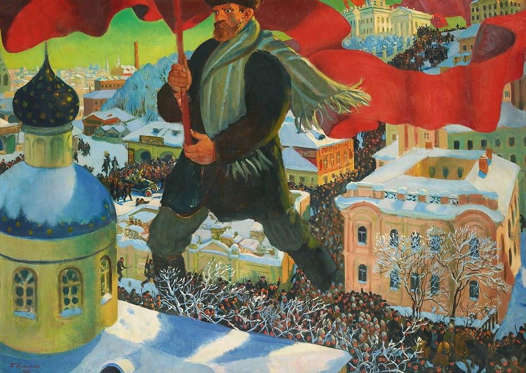 Artistic depiction of the Bolsheviks, ca. 1920.