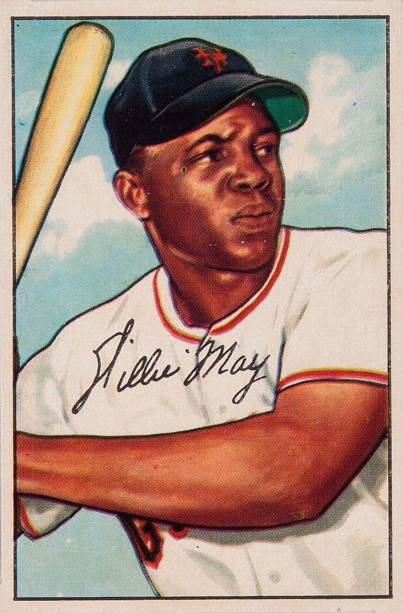 Willie Mays baseball card. 1952.