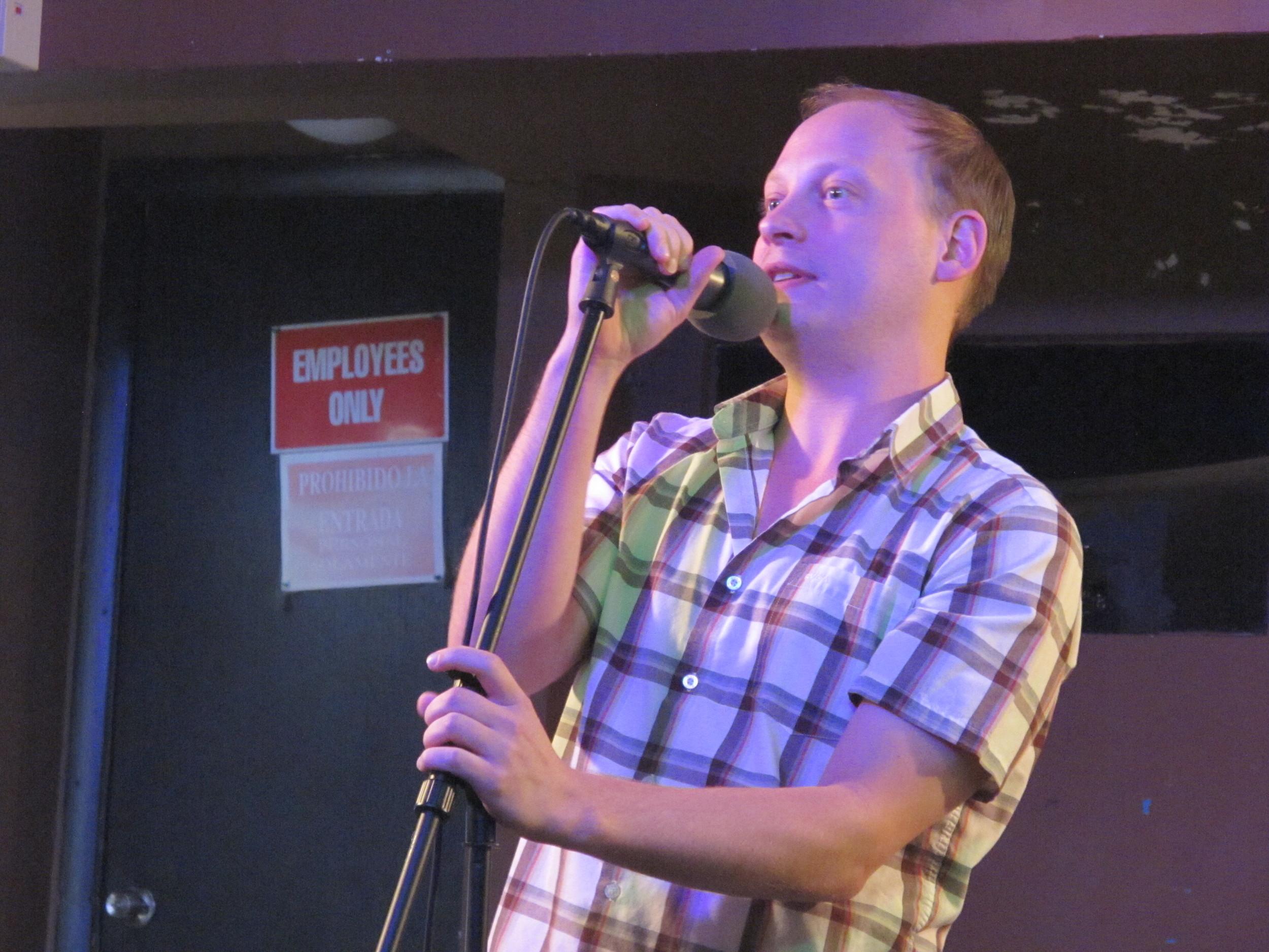 Brandon Fisher  rocks the mic right!