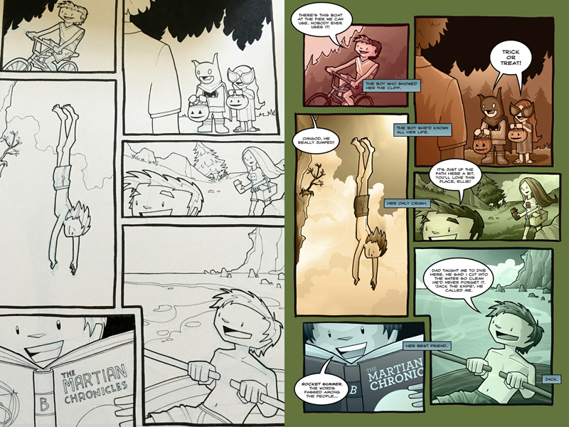 A fun page introducing Jack into the story.