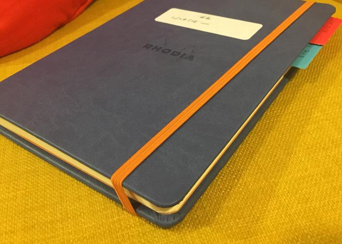 Journal the second, a ruled A5 Rhodiarama webnotebook