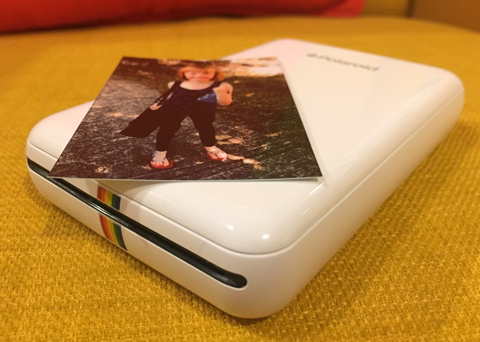 The Polaroid ZIP printer, barely larger than my iPhone 6S