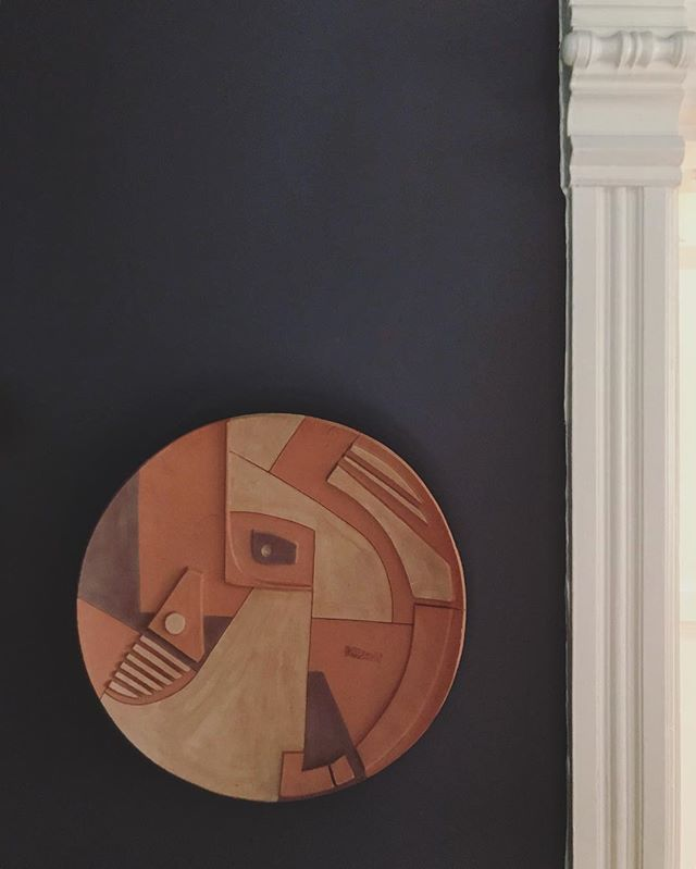 On the wall.  #ceramics #hangingonthewall #70s #downpipefarrowandball