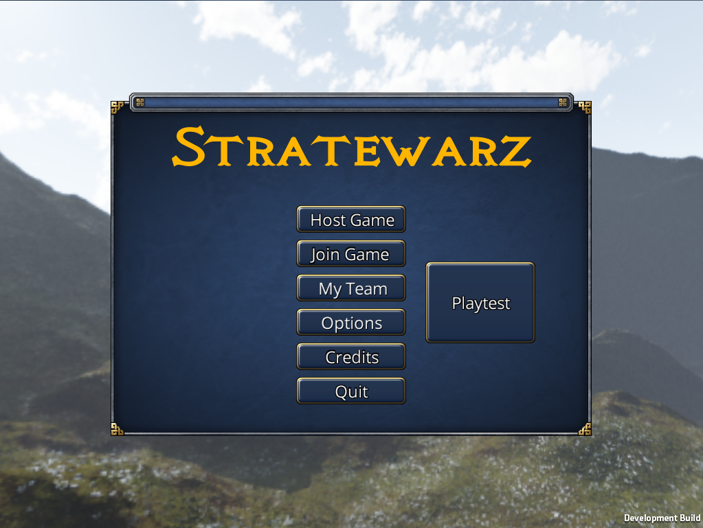 Stratewarz title Screen