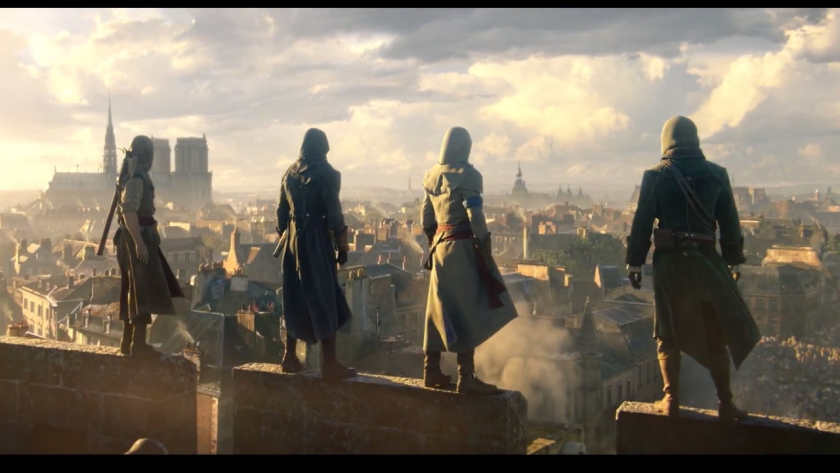 Assassin's Creed: Unity, allowing up to 4 players simultaneously in co-op scenarios