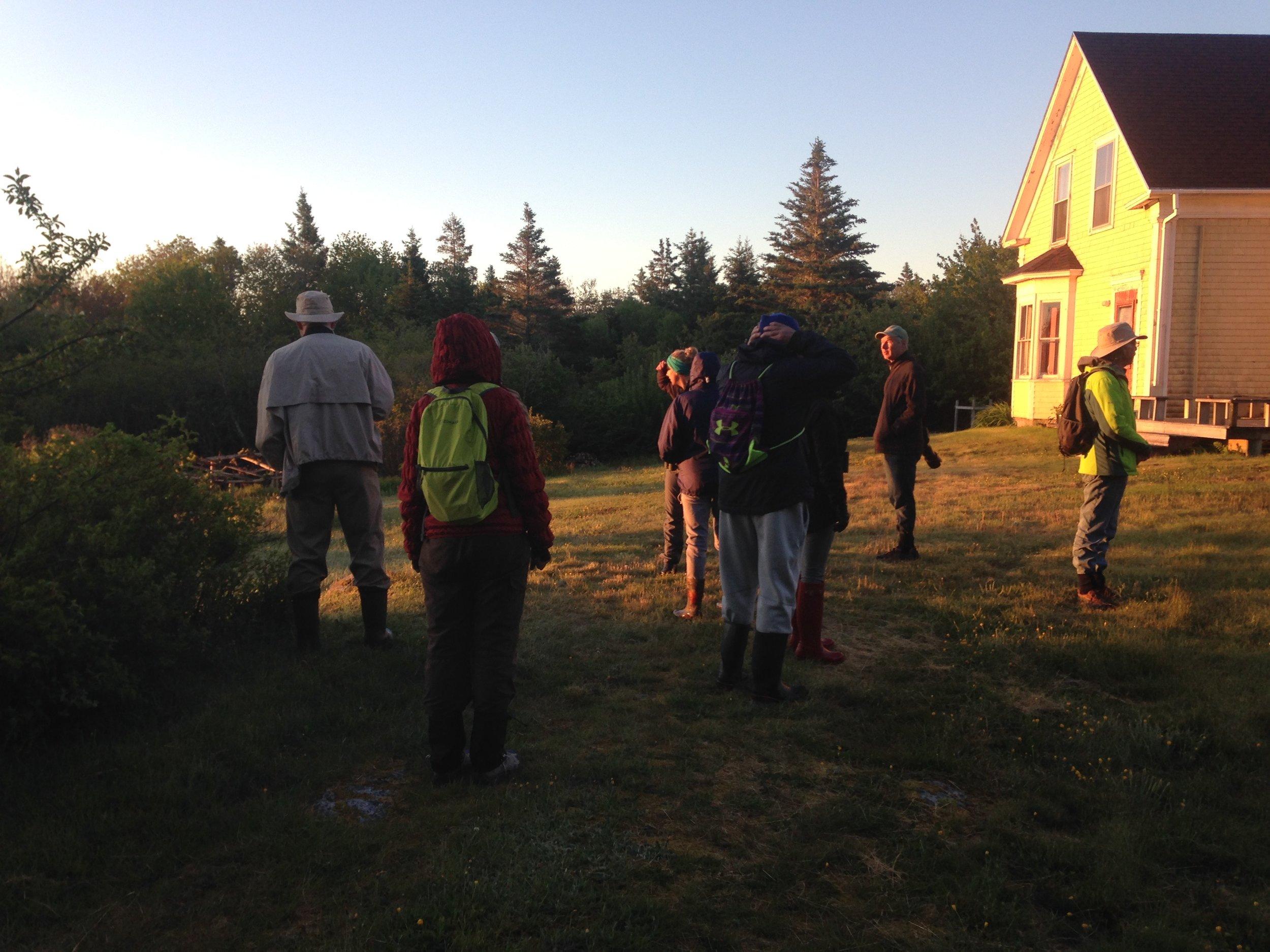 Birding-by-Ear workshop participants on one of their dawn chorus walks