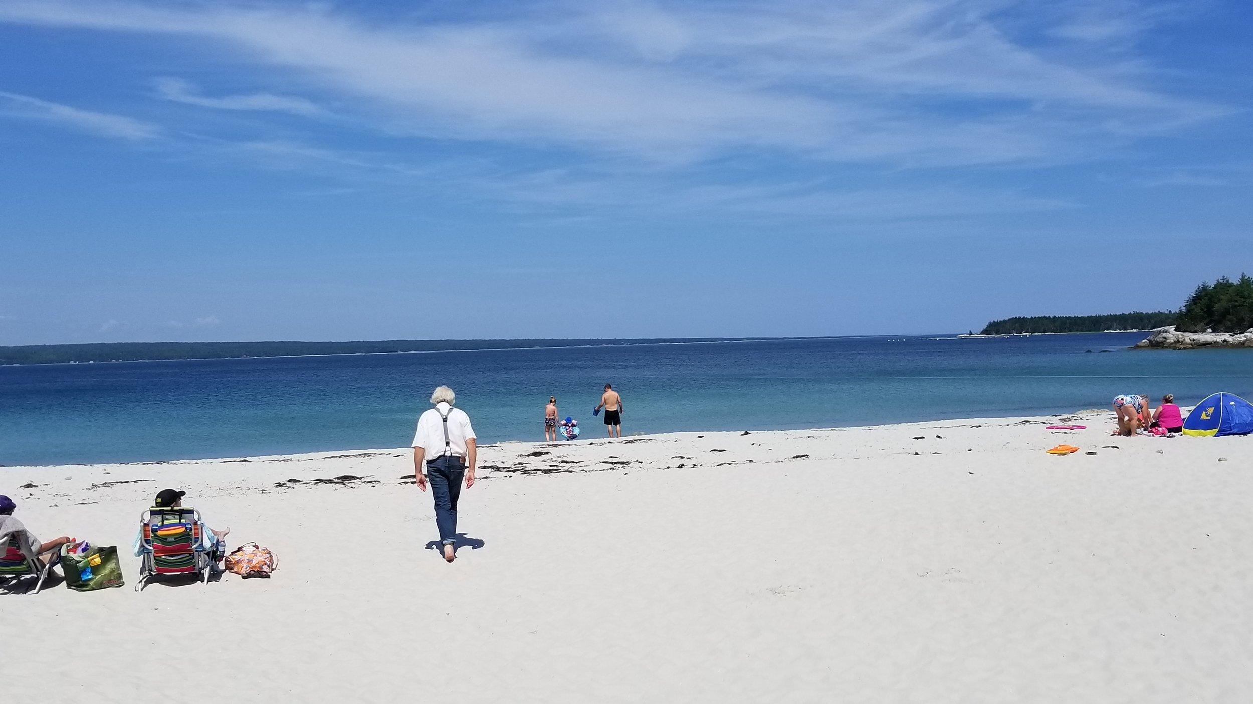 Dirk taking a stroll down the beach
