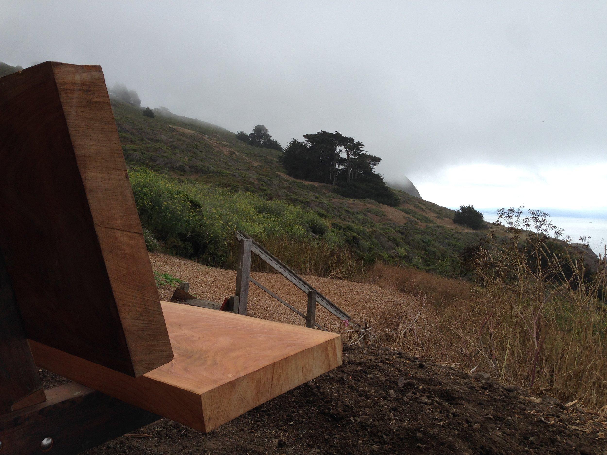 Cypress Slab Bench