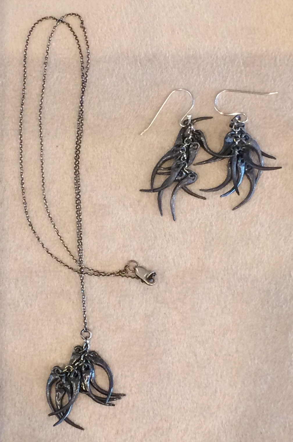 Lauren Wolf Jewelry: Snake Fang Necklace and Snake Fang Earrings