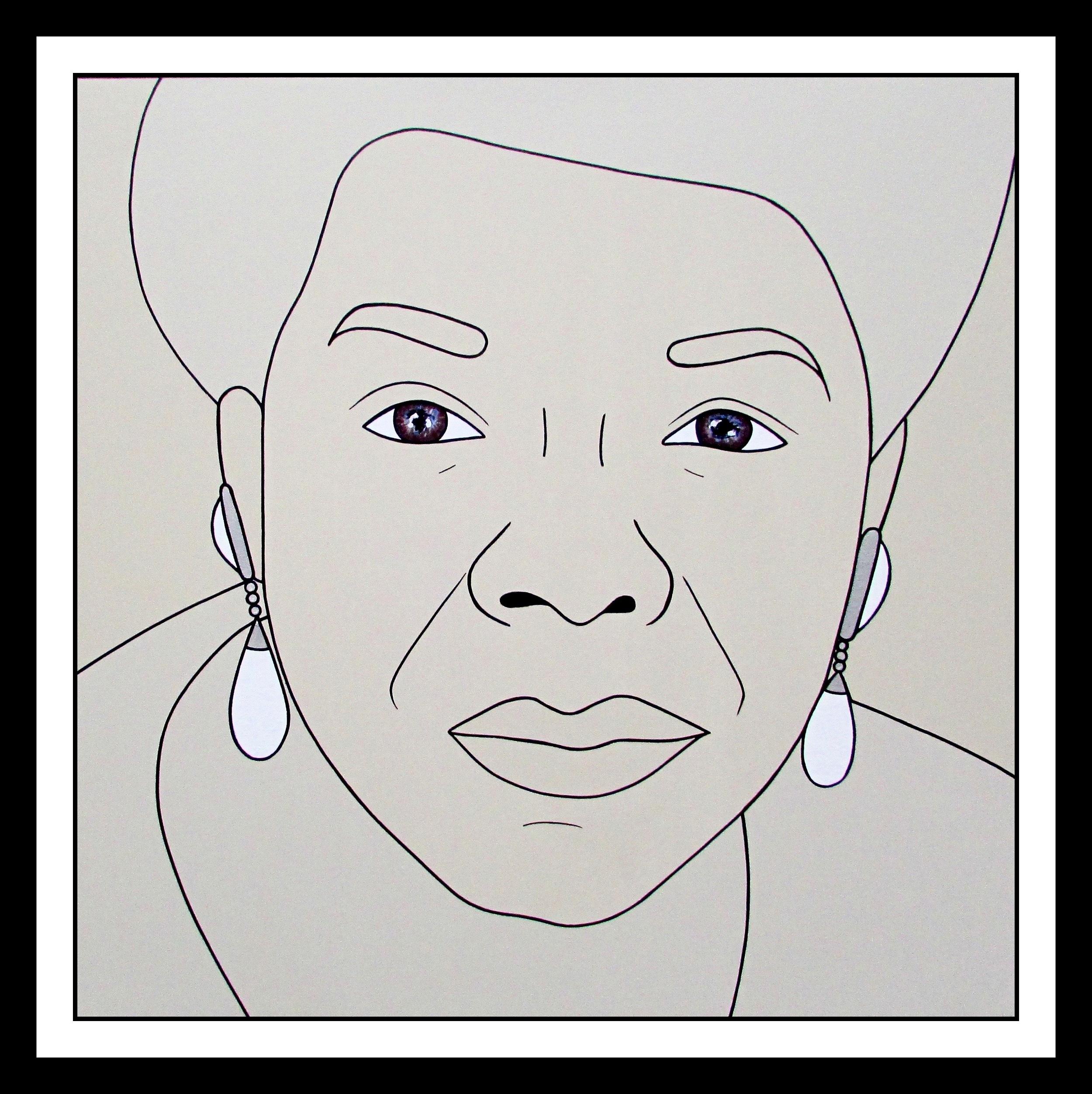 Heroes- zMaya Angelou, 48 x 48 inches, Brand Us Art (1).jpg