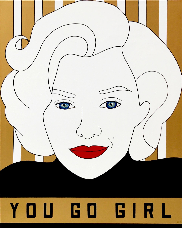 Marilyn Monroe, You Go Girl, Brand Us Art, 60 x 48 inches1.jpg