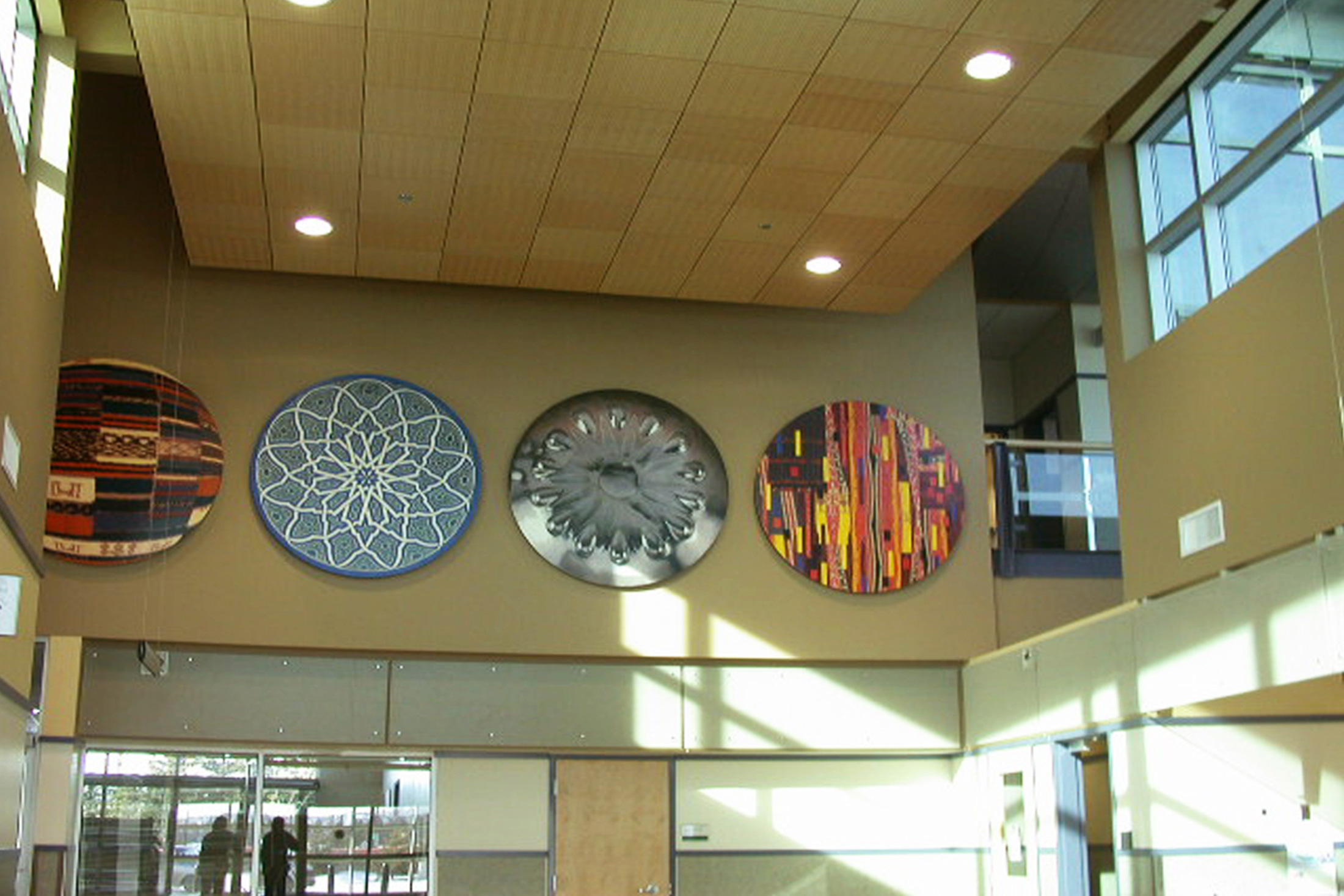 Installation view of  Encompass , 2005. The South Edmonton Police Station, Edmonton, Alberta. Public art commission funded by The City of Edmonton