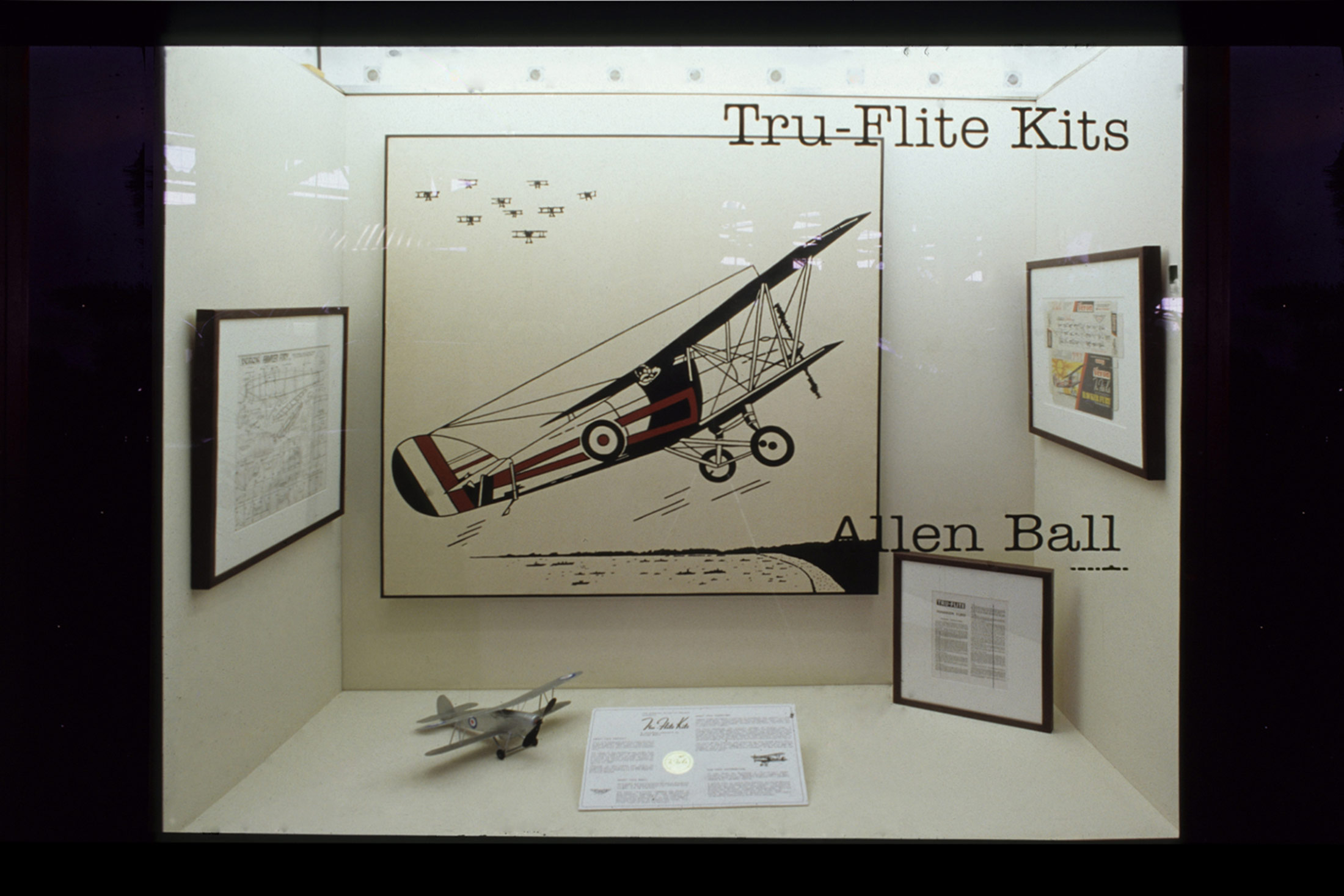 """Installation view of  Tru-Flite Kits,  1997. The Alberta Aviation Museum, Edmonton, Alberta, Canada                96    800x600                 Normal    0                false    false    false       EN-US    JA    X-NONE                                                                                                                                                                                                                                                                                                                                                                                                                                                                                                                                              /* Style Definitions */ table.MsoNormalTable {mso-style-name:""""Table Normal""""; mso-tstyle-rowband-size:0; mso-tstyle-colband-size:0; mso-style-noshow:yes; mso-style-priority:99; mso-style-parent:""""""""; mso-padding-alt:0in 5.4pt 0in 5.4pt; mso-para-margin:0in; mso-para-margin-bottom:.0001pt; mso-pagination:widow-orphan; font-size:10.0pt; font-family:""""Times New Roman"""";}"""