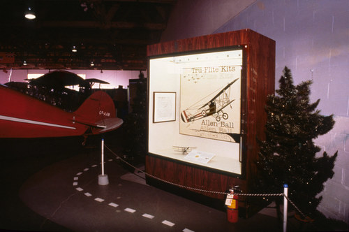 Installation view of  Tru-Flite Kits,  1997. The Alberta Aviation Museum, Edmonton, Alberta, Canada