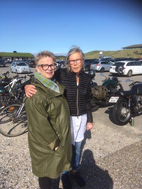 Aase og jeg på toppen af Danmark. Fantastisk septembervejr.