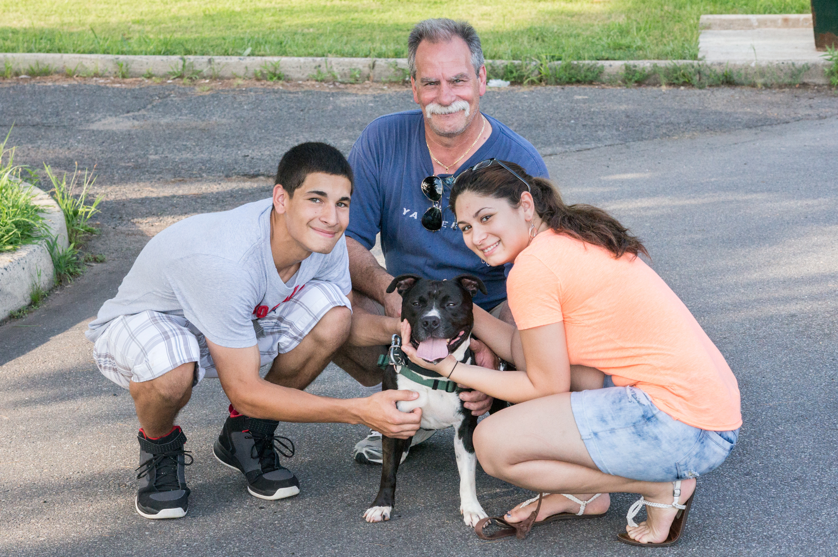 Danny with his new Family