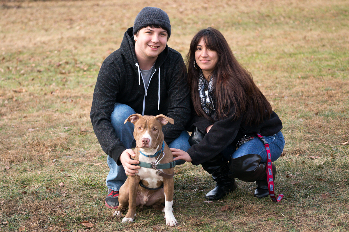Jax with his new family