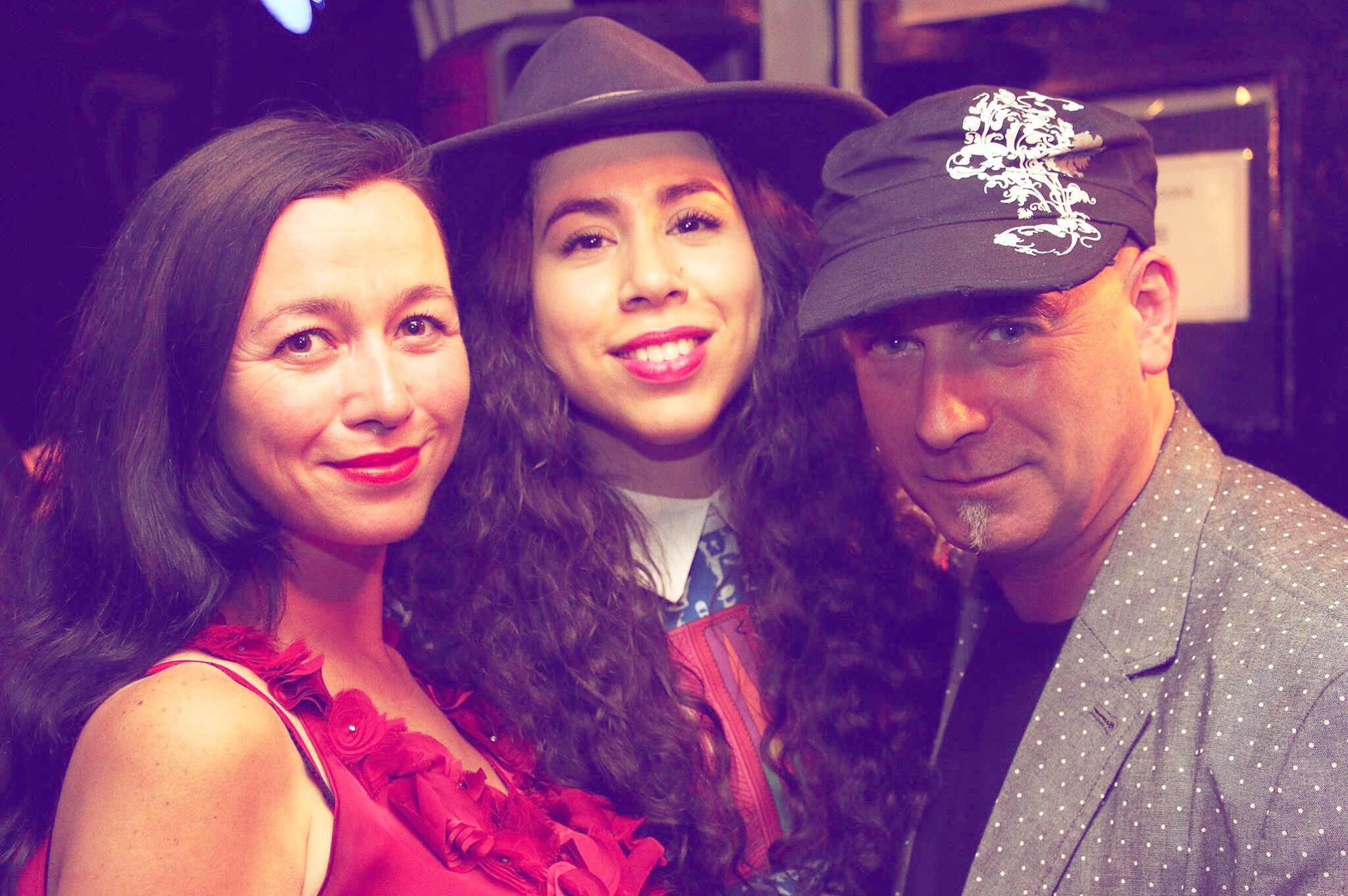 In the picture: Laura Westcott(Left) Emel Michael (Centre) Tony Moore - Founder of the Bedford (Right)  picture taken by Des Chisholm